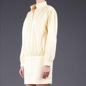 Thin Dolan yellow cotton Deck minidress